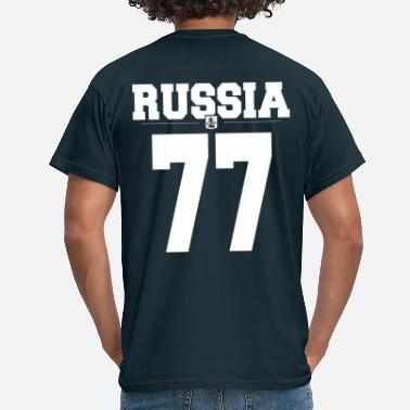 Russia77 with coat of arms - Men's T-Shirt