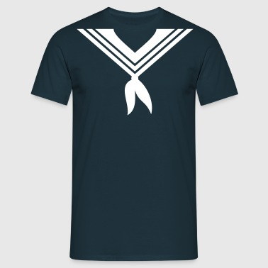 sjømann krage / sailor collar (1c) - T-skjorte for menn