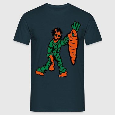 Zombie with Carrot - Men's T-Shirt