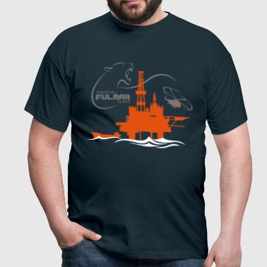 Fulmar Oil Rig Platform North Sea Aberdeen - Men's T-Shirt