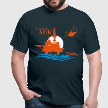 Auk North Sea Oil Rig Platform Aberdeen - Men's T-Shirt