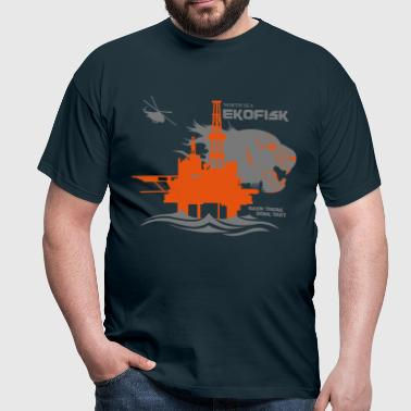 Ekofisk North Sea Oil Rig Platform Aberdeen - Men's T-Shirt