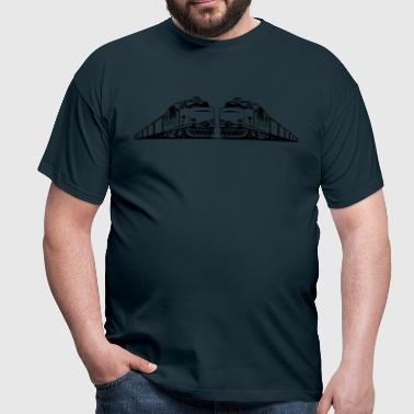 Freight train railway - Men's T-Shirt