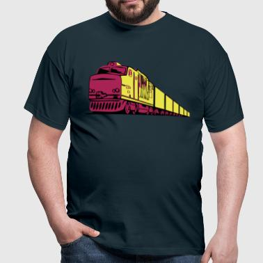 Freight railway locomotive - Men's T-Shirt