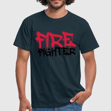 Firefighter Graffiti Logo - Men's T-Shirt