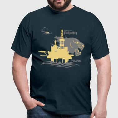 Ninian Oil Rig Platform North Sea Aberdeen - Men's T-Shirt