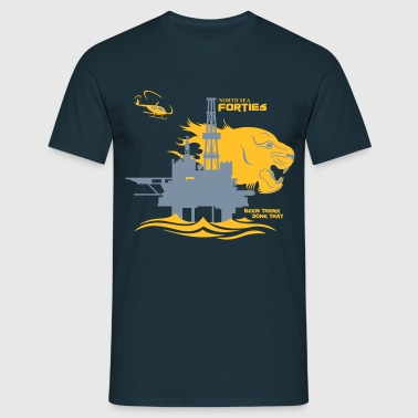 Forties Oil Rig Platform North Sea Aberdeen - Men's T-Shirt
