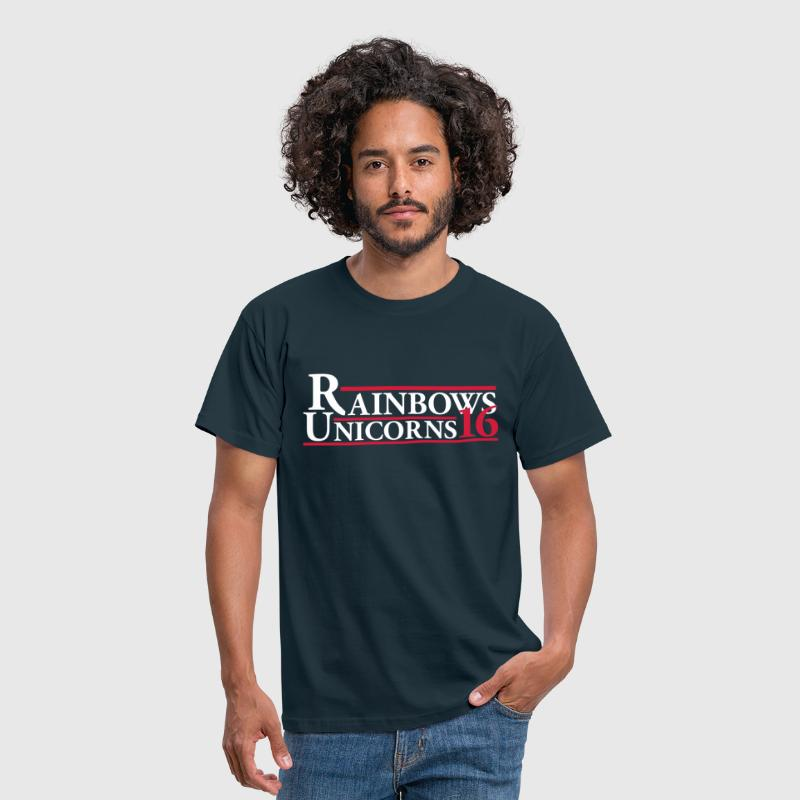Rainbows Unicorns 16 - Men's T-Shirt