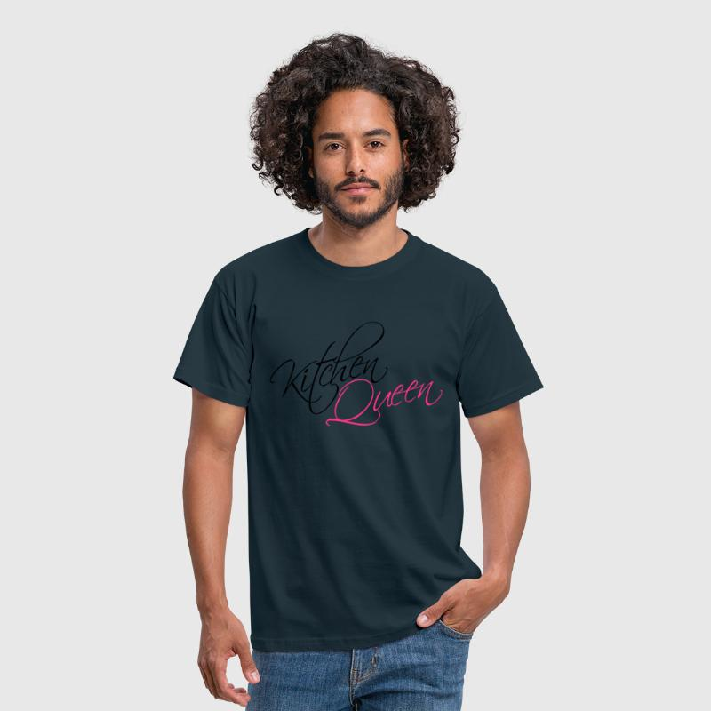 Kitchen Queen Text Logo Design - Men's T-Shirt