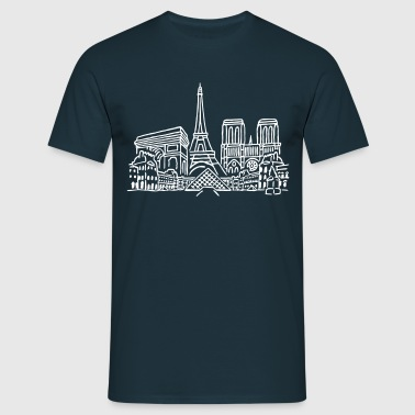 Paris Panorama - Männer T-Shirt
