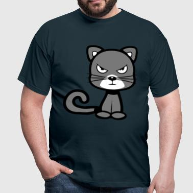 Funny angry cat - Men's T-Shirt