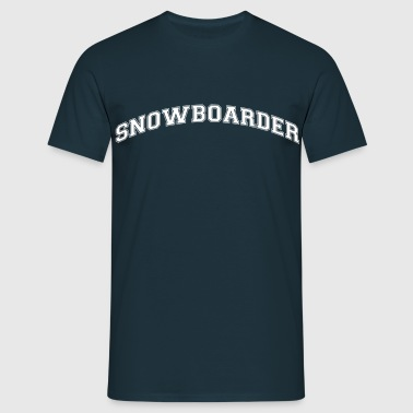 snowboarder college style curved logo - T-shirt Homme