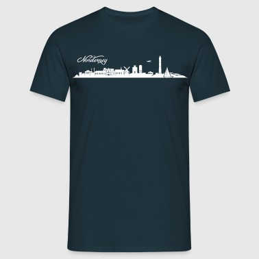 Norderneyer Skyline - Männer T-Shirt