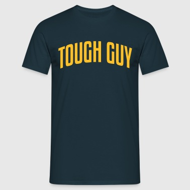 tough guy stylish arched text logo copy - Men's T-Shirt
