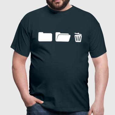 Folder with trash on Computer  - Men's T-Shirt