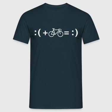 Formula For Happiness (Bike) - Men's T-Shirt