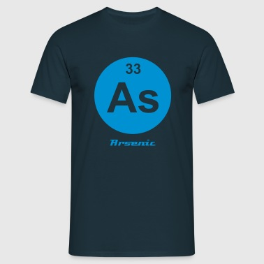 Element 33 - as (arsenic) - Minimal-inverse - T-shirt Homme