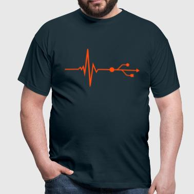 USB - DJ - Pulse - Beat - T-shirt Homme