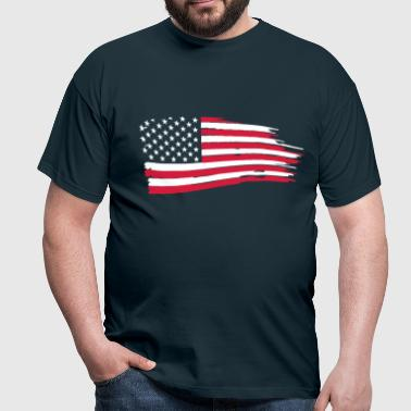 usa_flag_on_blue - Men's T-Shirt