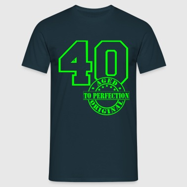 40 Aged to Perfection - Männer T-Shirt