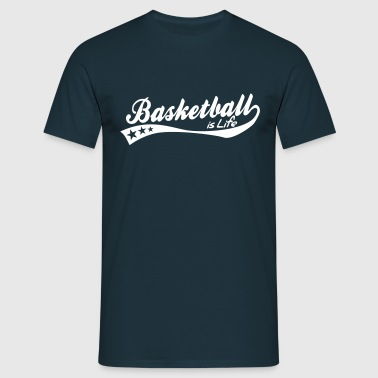 basketball is life - retro - Men's T-Shirt