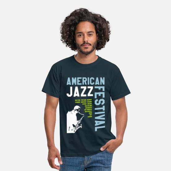 Festival T-Shirts - AMERICAN JAZZ FESTIVAL 2 - Men's T-Shirt navy