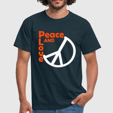 peace and love - T-shirt Homme