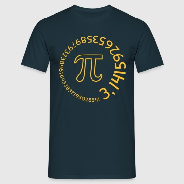 Number Pi round v2 (2c) - Men's T-Shirt