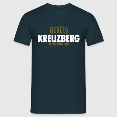 Capitol Of Germany Berlin - Kreuzberg Established 1920 - Männer T-Shirt