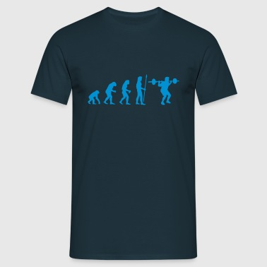 evolution_bodybuilding1 - Men's T-Shirt