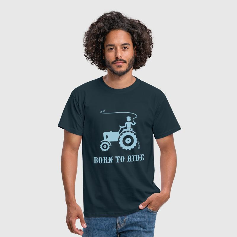 Born To Ride (Tractor) - Men's T-Shirt