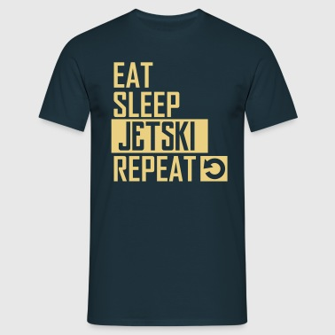 eat sleep jetski - Männer T-Shirt
