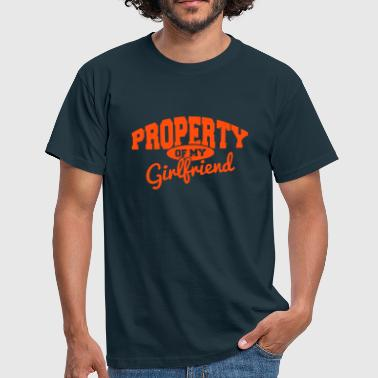 Couple Love PROPERTY OF MY GIRLFRIEND - Men's T-Shirt