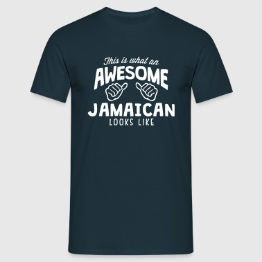 awesome jamaican looks like - Men's T-Shirt