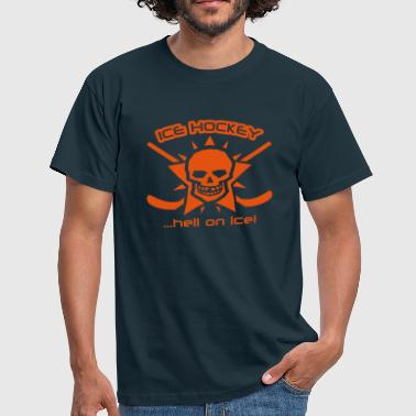 Eishockey - hell on ice - Männer T-Shirt
