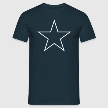 Star outline - Männer T-Shirt