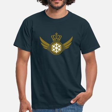 King Queen Snow Lord | Wings | Crown | Krone - T-shirt Homme