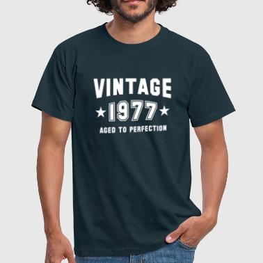 VINTAGE 1977 - Birthday - Aged To Perfection - Men's T-Shirt