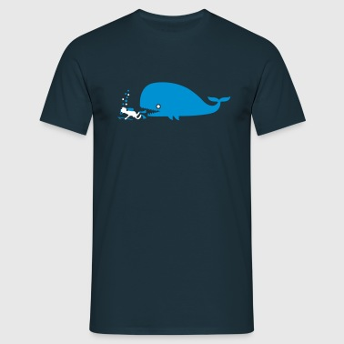 diver and whale - Männer T-Shirt