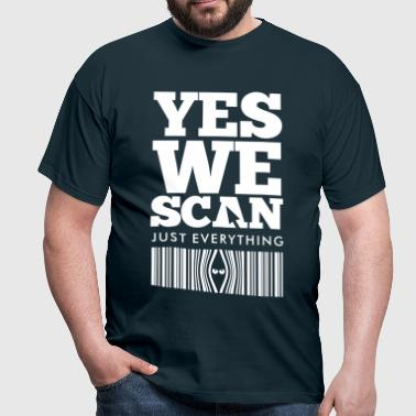 YES WE SCAN - Mannen T-shirt
