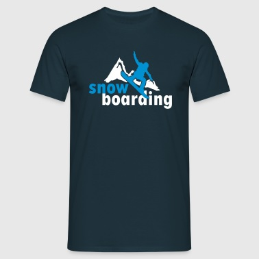 Snowboarding mountains (2 colors) - T-shirt herr