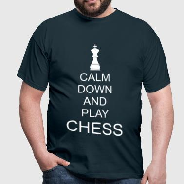 Keep calm play chess - Men's T-Shirt