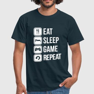 eat sleep game repeat - Miesten t-paita