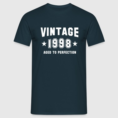 VINTAGE 1998 - Birthday - Aged To Perfection - Männer T-Shirt