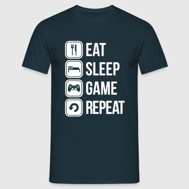 eat sleep game repeat - Herre-T-shirt
