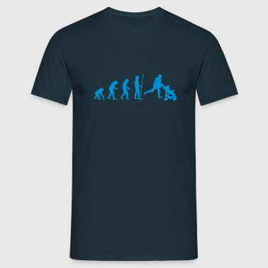 evolution_papa - Men's T-Shirt