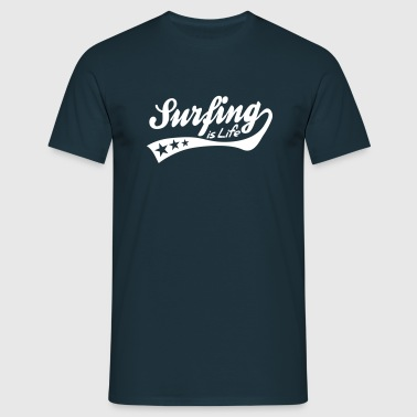 surfing is life - retro - Men's T-Shirt