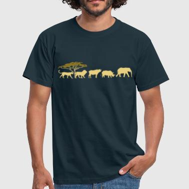 Big Five in de savanne  - Mannen T-shirt