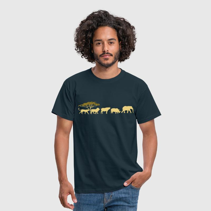 Big Five dans la savane  - T-shirt Homme