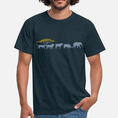 Five Big Five in de savanne  - Mannen T-shirt
